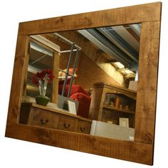 This mirror is from the chunky Plank Solid Pine range, hand built in England, it's hand waxed to a create a high quality finish .These mirrors can be hung either Landscape or Portrait way.