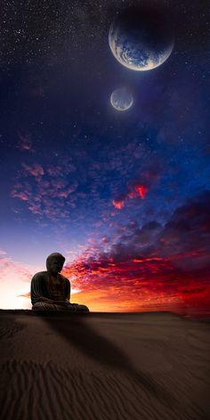 #Bouddha #mystical #sky #stars #meditation