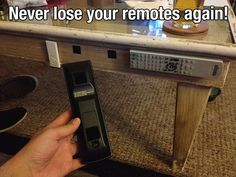 Never lose your remotes again - I'd put it inside a coffee table drawer!