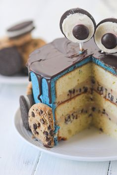Cookie Monster Cake - Confessions of a Cookbook Queen