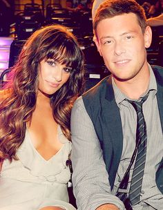 adorable picture of Lea and Cory <3 <3 <3
