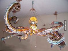 Octopus Chandelier i don't know why but i actually found this pretty a little odd, but pretty.