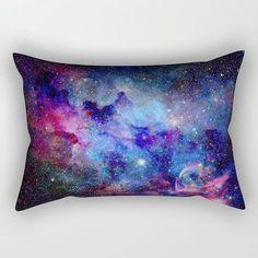 Blue Galaxy Rectangular Pillow Galaxy Throw Pillow Astronomy