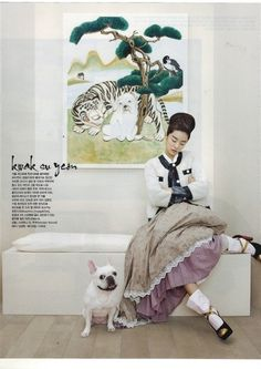 "Vogue Korea August 2012 Issue Editorial: ""Fashion into Art"" Photographer: Kang Hyea Won Stylist: Seo Young Hee"