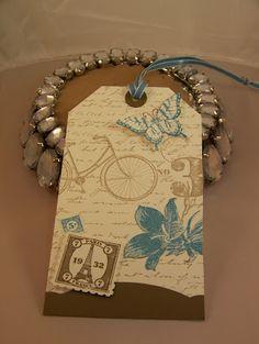 Elin's Elegant Designs - Postage Due tag.