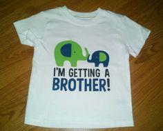 Big Brother Onesie or T-Shirt with Two Elephants by tiffanylynnwilliams on Etsy