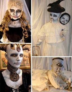 Not all dolls are for children – as evidenced by the incredibly bizarre and amazing art dolls, puppets and sculpture of these 15 artists. Creepy Halloween Props, Halloween Doll, Halloween Horror, Halloween Ideas, Happy Halloween, Ugly Dolls, Creepy Dolls, Creepy Hand, Death God
