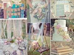 Vintage book themed wedding in a pastel wedding palette-As a bookworm this theme appeals to me Pastel Wedding Theme, Vintage Wedding Theme, Wedding Book, Wedding Themes, Wedding Colors, Our Wedding, Wedding Flowers, Dream Wedding, Wedding Decorations