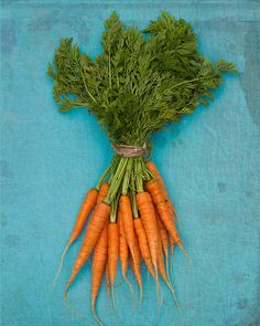 Kitchen Art - Food photography, Grow Your Own - Carrots on Blue. $29.00, via Etsy.