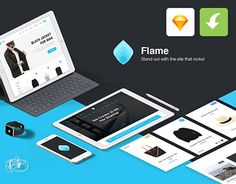 """Check out new work on my @Behance portfolio: """"Flame Free UI Kit for Sketch App (freebie)"""" http://be.net/gallery/49886887/Flame-Free-UI-Kit-for-Sketch-App-(freebie)"""