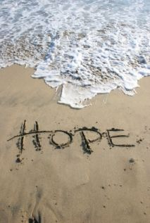 "One seems to find ""Hope"" when one has lost ""All Hope"".  The bridge is ""Wait""."