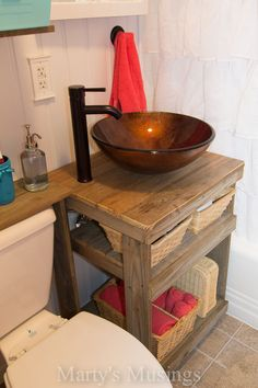 Small Bathroom Storage, cabinet design for bathroom Primitive Bathrooms, Rustic Bathrooms, Small Bathroom, Bathroom Ideas, Vintage Bathrooms, Small Sink, Bathroom Images, Budget Bathroom, Bathroom Layout
