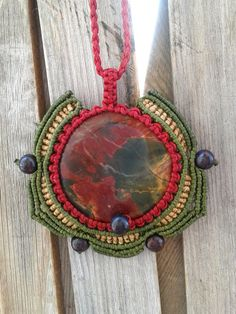 Collana macramè con agata pietra preziosa di lulupica su Etsy