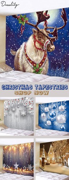 2020 Christmas Tapestry Best Online For Sale Cheap Christmas, Christmas Past, Vintage Christmas, Christmas Holidays, Christmas Crafts, Christmas Decorations, Diy Dream Home, Cool Tapestries, Christmas Shower Curtains