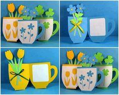 Flower tea cup invitations