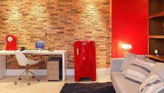 Como fazer paredes de tijolo nos ambientes e qual seu efeito em termos de estética e sensações.