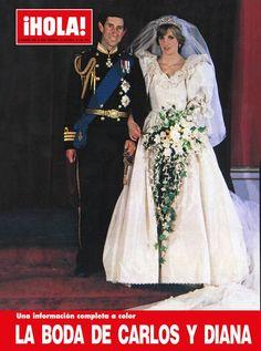 Capa da revista ¡Hola! com o casamento do Príncipe Charles do Reino Unido e Diana Spencer.