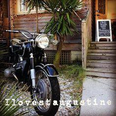 We do too! @zaytounaljundi  Because: Florida! #rideemdonthideem #vintagebmw #beach #staugustine #staugustinebeach #pontevedra #pontevedrabeach #discountcode  #motorcycle #commute #lovefl #r60