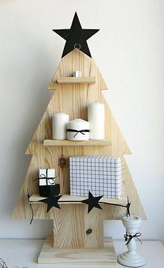 Árvores de Natal -arvore de natal artesanal minimalista