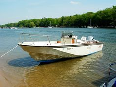My 1985 Boston Whaler Outrage at rest on Pigeon Lake, Port Sheldon Mi Photo Credit © Jeff Rohlfing 5-2006