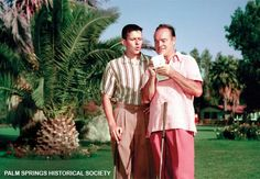 Bob Hope and son Tony playing at O'Donnel Golf Course 5th Hole 1960