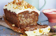 Apfel-Birnen-Brot mit Buttercreme Butter, Creme, Banana Bread, Desserts, Chef Recipes, Brot, Kuchen, Pears, Tailgate Desserts