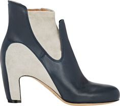 Maison Margiela Women's Two-Tone Ankle Boots-Colorless