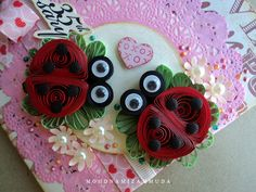 ladybugs #quilling  visit me at My Personal blog: http://stampingwithbibiana.blogspot.com/