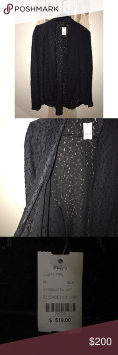 Elizabeth and James jacket A never worn timeless, classy black jacket cover up Elizabeth and James Sweaters Cardigans