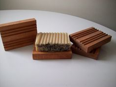Breathable Wooden Soap Dish  For Handmade Soap door BubblesNBling, $5.00