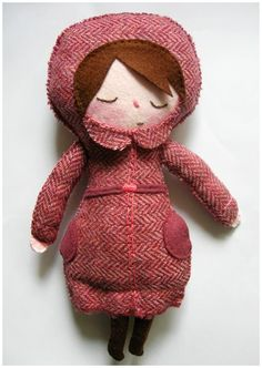 Pink lady plush by Louise Bagnall
