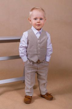 Gorgeous and comfortable natural linen boy suit is 100% handmade in Europe.  All my suits are very well designed and hand crafted of European hight  quality ... 9ba7e535b692