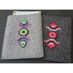 iPad / Notebook case with perler beads by dariaakturk