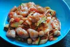 Gnocchi with Zucchini Ribbons via registered dietitian Eat Well with Janel