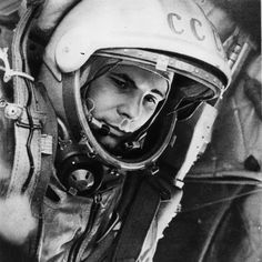On 12 April 1961, Yuri Gagarin became the first human to travel into space, launched into orbit on the Vostok 3KA-3 spacecraft (Vostok 1).