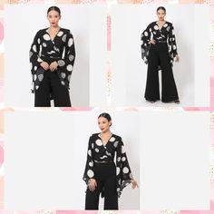 Wrap Blouse Polkadot Print Surplice Kimono Top  #fashionaddict #tops #fierce #streetstyle #bossdiva #girlboss #newarrivals #careerattire #newstyles #jumpsuits