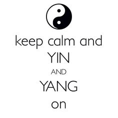 keep calm and yin and yang on / created with Keep Calm and Carry On for iOS #keepcalm #yinandyang #Taoism