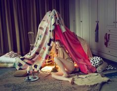 If you don't go anywhere, escape to a blanket tent