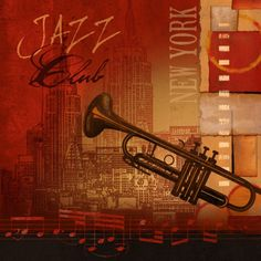 Jazz Club Poster Print