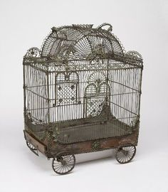 well...this just rolled right into my heart....so love...Cooper-Hewitt, National Design Museum Bird Cage In The Form Of A Circus ... 18th Century...