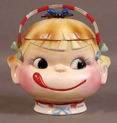 Fujiya Candy Cookie Jar - Yum-EE-Yum Jar  Circa: 1960s