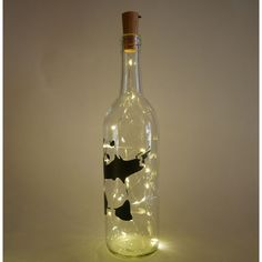 $15.49 // Banksy Panda light-up bottle! Available now via our Etsy store!