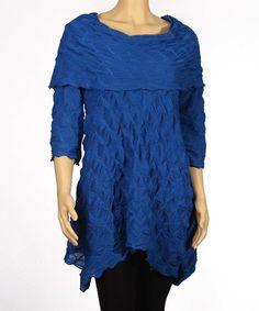 Look at this #zulilyfind! Royal Texture Three-Quarter Sleeve Tunic - Women & Plus by Seven Karat #zulilyfinds