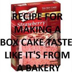 Make A Box Cake Taste Homemade Recipe - Key Ingredient