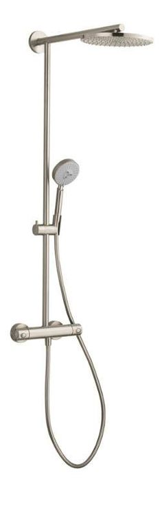 "View the Hansgrohe 27160 Raindance Showerpipe Shower System with 10"" Rain Shower Head, Multi-Function Hand Shower, and 63"" Hose at FaucetDirect.com."