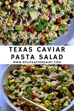 Get ready for your summer bbqs, potlucks, and picnics with this easy vegan Texas Caviar Pasta Salad. Made with fresh vegetables, beans, and a flavorful dressing this easy pasta salad is the perfect side dish for all your summer gatherings. Eating Vegetables, Fresh Vegetables, Dairy Free Recipes, Vegan Recipes, Texas Caviar, Best Pasta Salad, Yummy Pasta Recipes, Healthy Grains, Summer Dishes