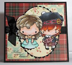 Outlander Stamped Card - Claire and Jamie Fraser Claire Fraser, Jamie And Claire, Jamie Fraser, Outlander Fan Art, Outlander Series, We R Memory Keepers, Great Love Stories, Fictional World, I Love Reading