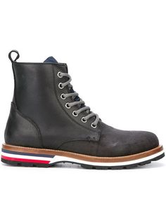 Shop Moncler 'Vancouver' ankle boots in Actuel B from the world's best…