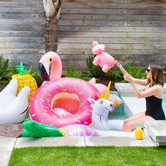 when your pool floaties outnumber the pool goers! ?!