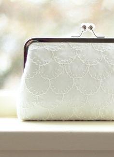 Ivory Bridal Clutch /  Bridal Clutch / Silk